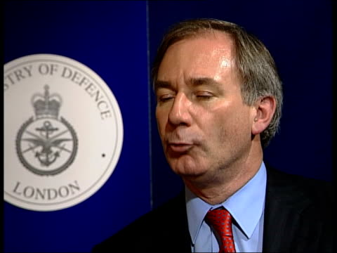 london int geoff hoon mp interview sot i first learned about it when i read the butler report [asked shouldn't you have known about it earlier] that... - weapons of mass destruction stock videos & royalty-free footage