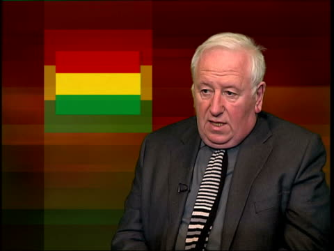 london hugh o'shaughnessy interview sot morales rise and fall of gony is symptom of growing flexing of muscles by indigenous peoples of south america... - symptom stock videos and b-roll footage