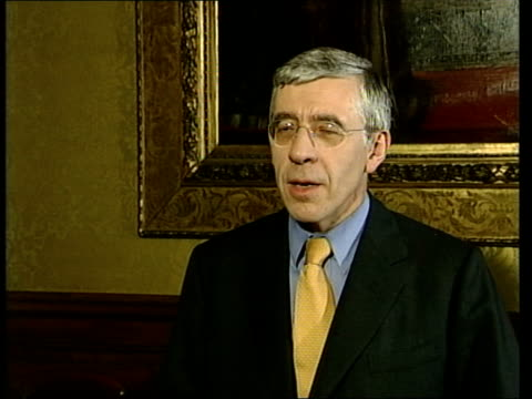 london jack straw mp interview sot incontrovertible evidence before we went to war that saddam hussein had had chemical biological weapons... - weapons of mass destruction stock videos and b-roll footage