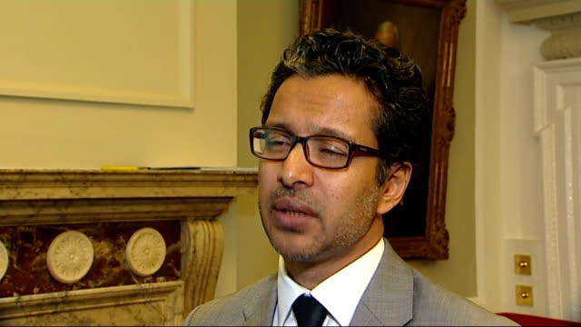 london int jalal yaqoub interview sot saying extra military would be counter productive london chatham house int alan duncan mp speech sot the lesson... - alan duncan stock-videos und b-roll-filmmaterial