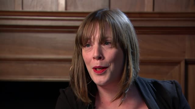 london int jess phillips mp interview sot unfortunate that today he has confirmed for a lot of victims that they won't be believed believe in... - shrugging stock videos and b-roll footage