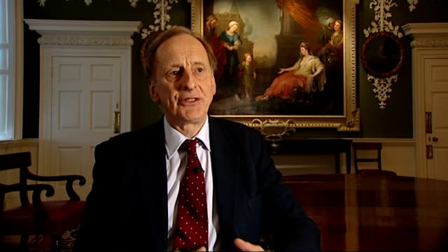 london int julian radcliffe interview sot france paris ext reporter to camera - radcliffe camera stock videos and b-roll footage