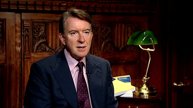 london int lord mandelson interview sot what i find quite shocking is that the phoenix four directors rather than offering any hint of humility or... - humility stock videos and b-roll footage
