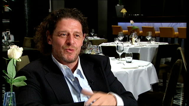 marco pierre white interview sot - wine didn't stop his performance it may have enhanced it. he had charisma. - keith floyd stock videos & royalty-free footage