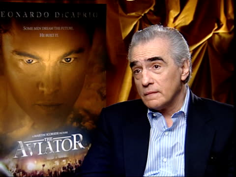 london int martin scorsese interviewed sot talks about how everybody has had ideas about making film about howard hughes so i stayed out of that area... - howard hughes stock videos and b-roll footage