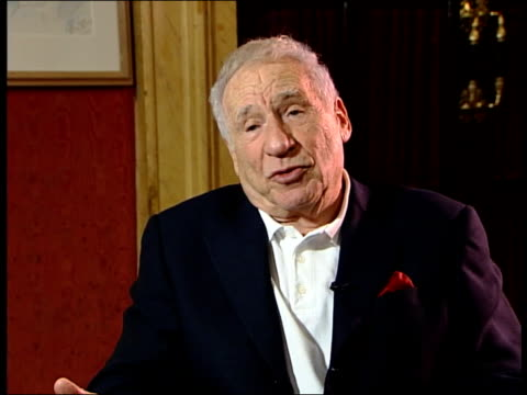 mel brooks interviewed sot - the new york times when the movie came out said black college humour, never work/ i don't know where she is but the... - producer stock videos & royalty-free footage