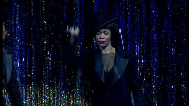 michelle williams playing role of 'roxy' in west end production of musical, 'chicago' sot - roxy music stock videos & royalty-free footage