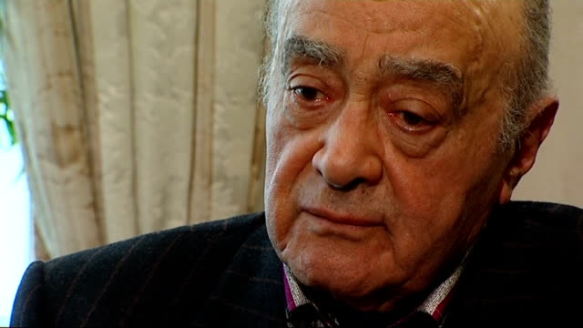 london int mohamed al fayed interview sot after long thoughts and seeing what happened after the verdict i have decided i think time for me now i... - itv news at ten stock videos & royalty-free footage