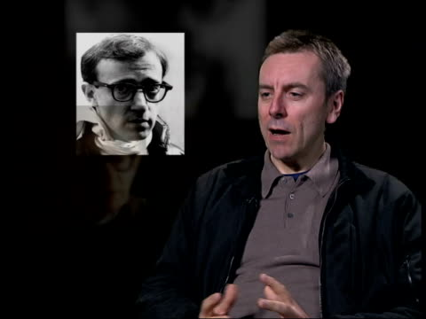 london nick james interview sot he was prince of relatism/ his movies were about how men and women culd reinvent romance/ that time has gone/ kids... - woody allen stock videos & royalty-free footage