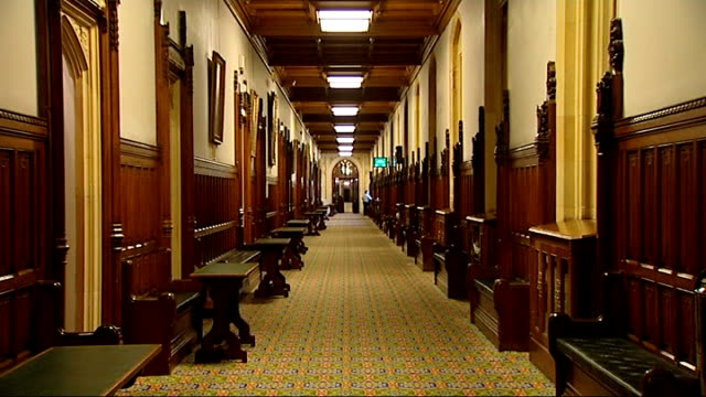 london int panelled committee room corridor inside house of commons blurred lowangle shot people entering room blurred lowangle shot people standing... - house of commons stock videos & royalty-free footage