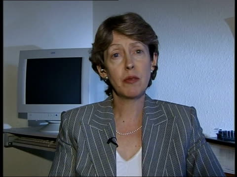 london patricia hewitt mp interviewed sot everybody recognises that we do have a rather different set of accounting standards than the us foolish and... - audit stock videos and b-roll footage