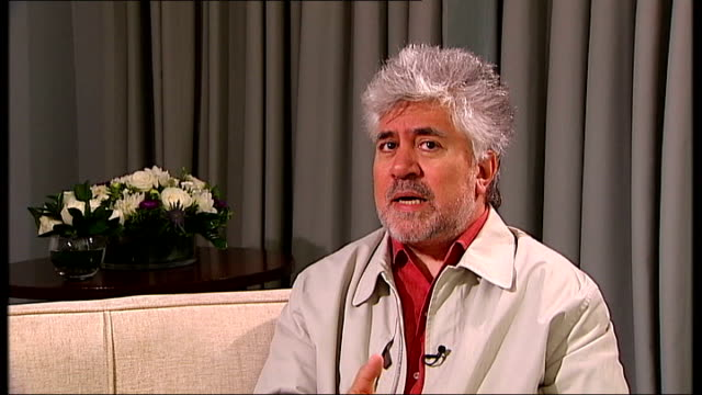 London INT Pedro Almodovar interview SOT Talks of inspiration behind latest film
