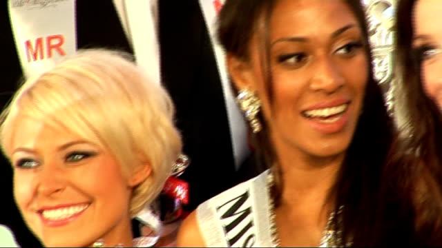 london: int rachel christie posing with other contestants - spielkandidat stock-videos und b-roll-filmmaterial