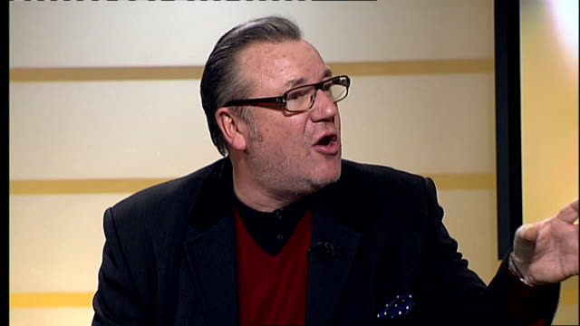 london int ray winstone interview sot - ray winstone stock videos & royalty-free footage