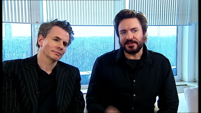 stockvideo's en b-roll-footage met london int simon le bon interview as sat next to john taylor sot about their return to the third album that was never made and how new producer mark... - duran duran