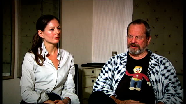 terry gilliam interview sot - called johnny to commiserate because he was friend of heath as well / he said - whatever you decide to do you can count... - terry gilliam stock videos & royalty-free footage