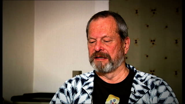 int terry gilliam interview sot something magical occurs when i start drawing - terry gilliam stock videos & royalty-free footage