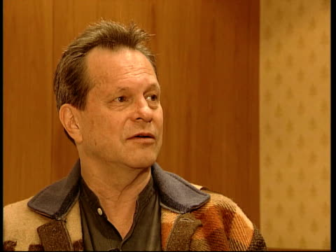 london int terry gilliam interview sot - the great american juggernaut is so hard to stop / you have to have governments trying to protect our culture - terry gilliam stock videos & royalty-free footage