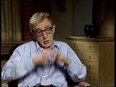 london woody allen interviewed sot recounts when he found out about world trade centre attack horrible tragedy yet on the wide spectrum of things... - woody allen stock videos & royalty-free footage