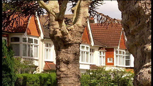 london is europe's worst city for tuberculosis ealing leafy residential street with cars parked on either side of road - ealing stock videos and b-roll footage