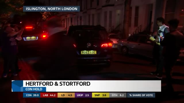 special 0200 0300 england london islington ext / night ***beware jeremy corbyn along from house and into car past press jereym corbyn from car... - islington stock-videos und b-roll-filmmaterial