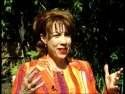 london: kathy lette interview sot - he wasn't good enough for europe but is good enough for australia/ british see us as the irish of the pacific - a... - pacific war stock-videos und b-roll-filmmaterial