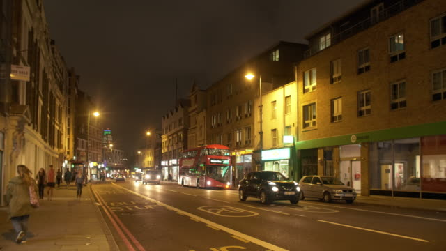 london kingsland road at night - east london stock videos and b-roll footage