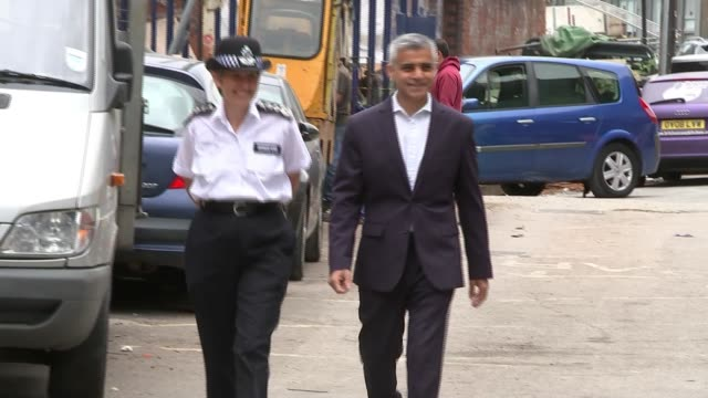 offenders released from prison to be electronically tagged england london ext cressida dick and sadiq khan towards - cressida dick stock videos & royalty-free footage