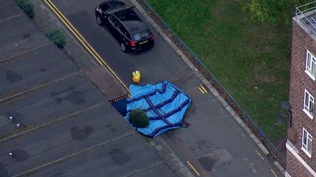 tulse hill crime scene aerials england london lambeth tulse hill crime scene - lambeth stock videos & royalty-free footage