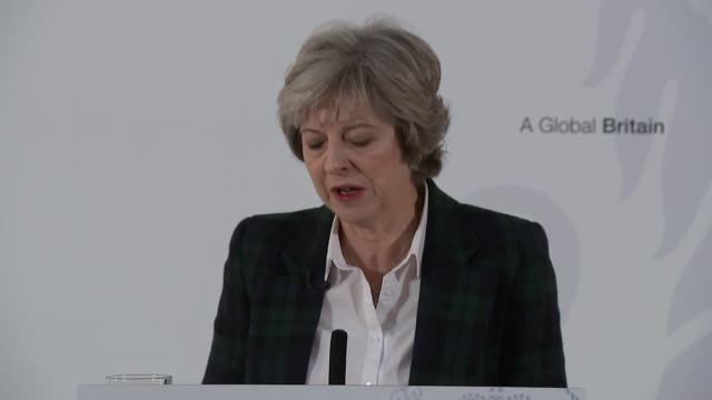 london lancaster house int prime minister theresa may mp along to podium to deliver speech theresa may mp speech sot a little over six months ago the... - looking around stock videos and b-roll footage