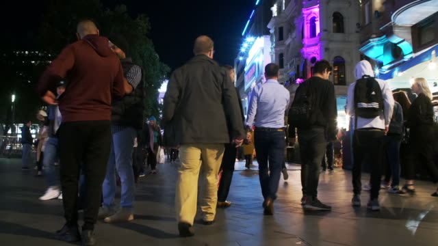 london leicester square at night - leicester square stock videos & royalty-free footage