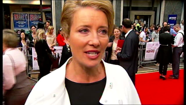 London Leicester Square EXT Emma Thompson interview SOT Dustin is a legend I'd queue to see him Wonderful to have such a person on our soil / one of...