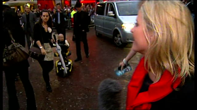 leicester square: ext verne troyer live interview sot - on loving london, filming in london / heath ledger's death - heath ledger stock videos & royalty-free footage