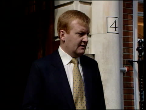 england london liberal democrat hq ext charles kennedy mp press conference sot you can be negative destructive play on people's fears or as... - charles kennedy stock videos & royalty-free footage