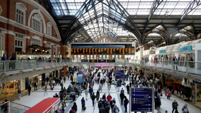london liverpool street station - rail transportation stock videos & royalty-free footage