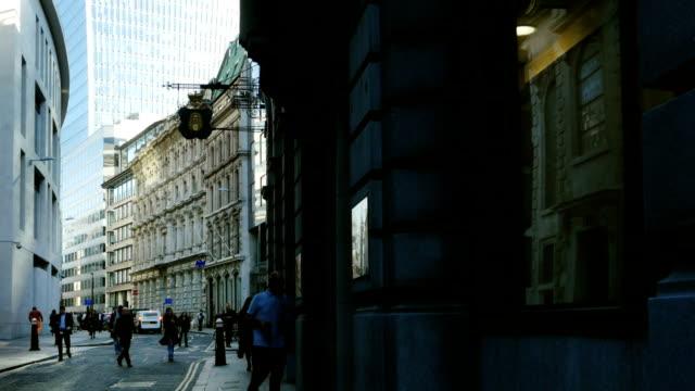 ロンドンロンバード街 - 歩道点の映像素材/bロール