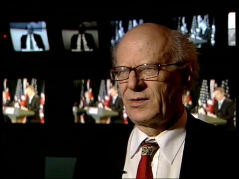 london: lord goodhart interview sot - legal case for going to war was always weak/ it was based on belief that saddam had not complied with un... - weapons of mass destruction stock videos & royalty-free footage