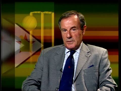 London Lord MacLaurin interview SOT as things stand at moment think Zimbabwe should be suspended/ if they get their house in order they can be...