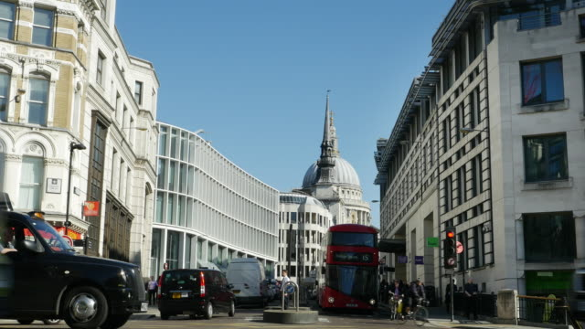 T/L London Ludgate Hill And St. Paul's Cathedral (UHD)