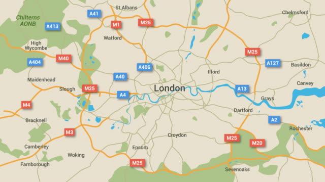 London Map Animation 4K