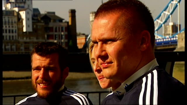 preview; england: london: ext **music overlaid intermittently sot** various of david weir during training session david weir interview sot various of... - decline stock videos & royalty-free footage