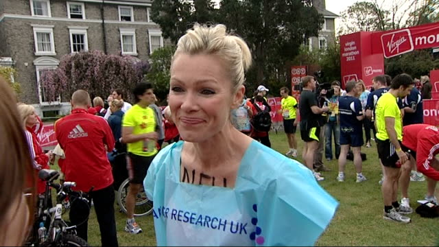 PC David Rathband interview / celebrity runners Nell McAndrew interview SOT On whether she will be the fastest celebrity runner / looking forward to...
