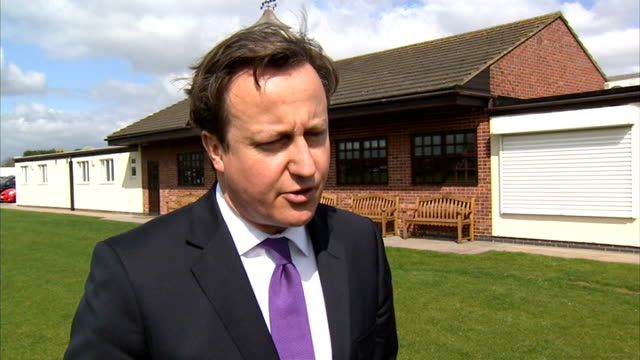 security presence increased following boston marathon bombs warwickshire nuneaton ext david cameron mp interview sot important the event goes ahead... - warwickshire stock videos & royalty-free footage