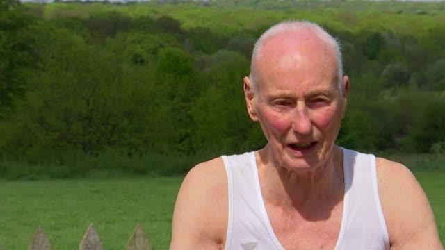 ken jones to run 39th london marathon england london chingford ext ken jones interview sot jones along with heather jones heather jones interview sot... - london marathon stock videos & royalty-free footage
