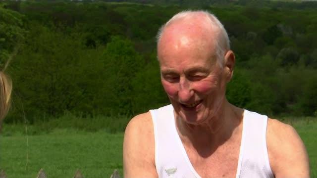 ken jones to run 39th london marathon england london chingford ext ken jones interview sot - london marathon stock videos & royalty-free footage