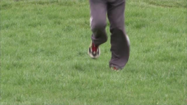 ken jones to run 39th london marathon england london chingford ext ken jones interview sot various shots of ken jones training - london marathon stock videos & royalty-free footage