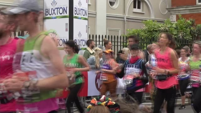 london's pride of britain winner vicki woodall raises almost 1 million pounds to fight childhood cancer england london ext james woodall and child... - london marathon stock videos & royalty-free footage