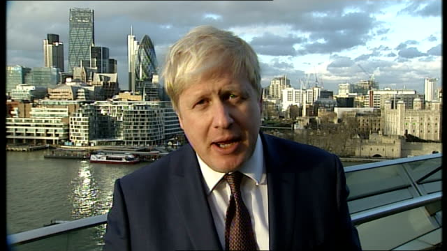 london mayor boris johnson attacks bob crow over planned tube strike england london city hall ext london mayor boris johnson 2way interview ex... - shock tactics stock videos and b-roll footage