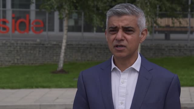 "london mayor sadiq khan has accused the government of being ""too slow"" to work with city hall and councils over planning potential local lockdowns in... - local government building stock videos & royalty-free footage"