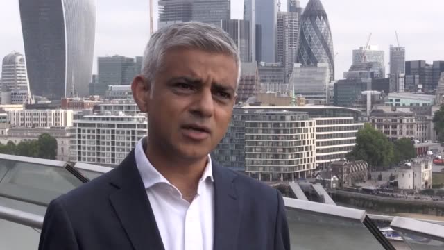 london mayor sadiq khan says he is not going to rise to president donald trump's views during his state visit to the uk - sadiq khan stock videos and b-roll footage